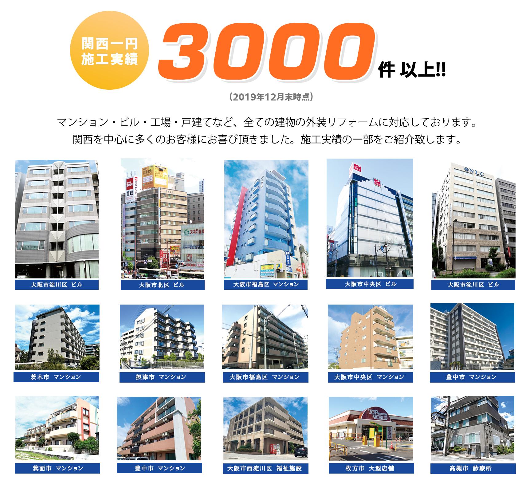 マンション ビル 工場 戸建てなど全ての建物の外装リフォームに対応