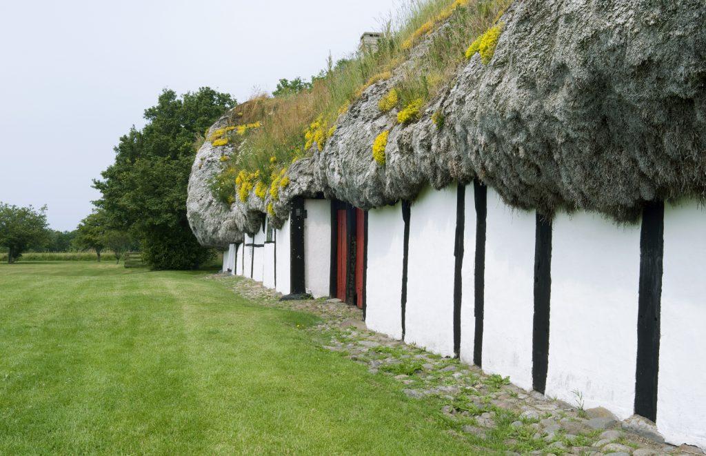 デンマークのレス島 屋根
