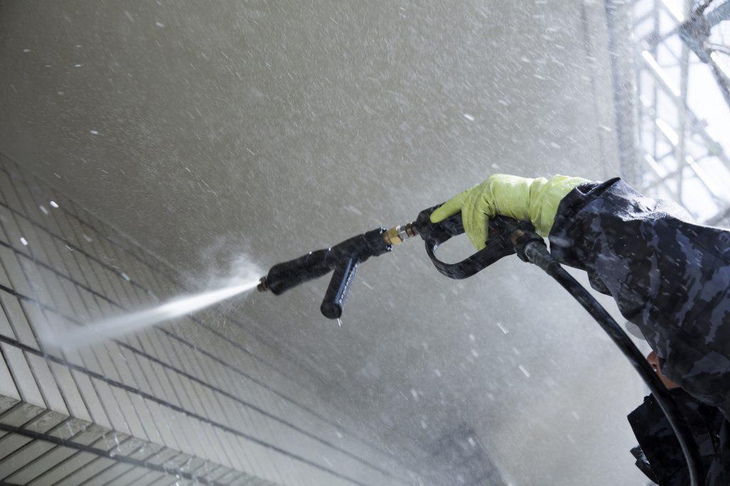 マンション外壁高圧洗浄
